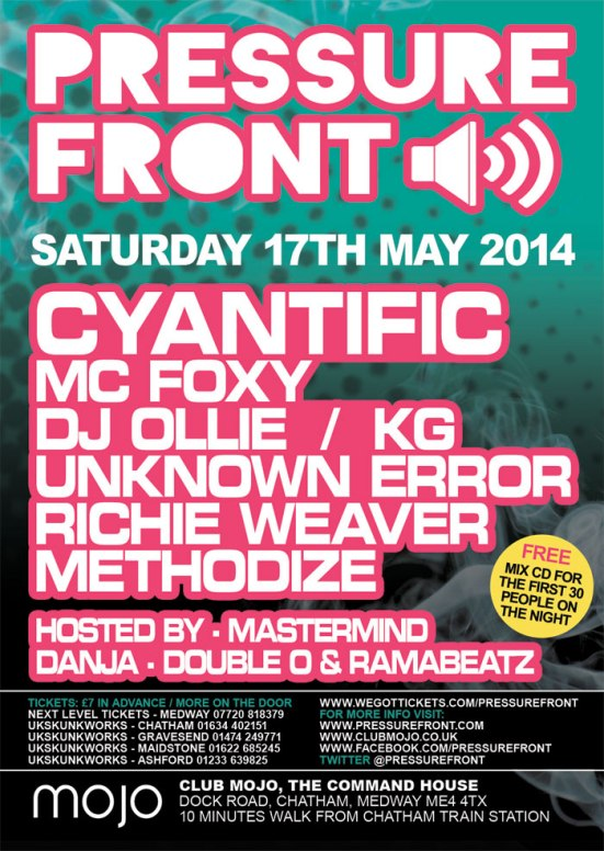 Pressure Front - May 2014 Line Up